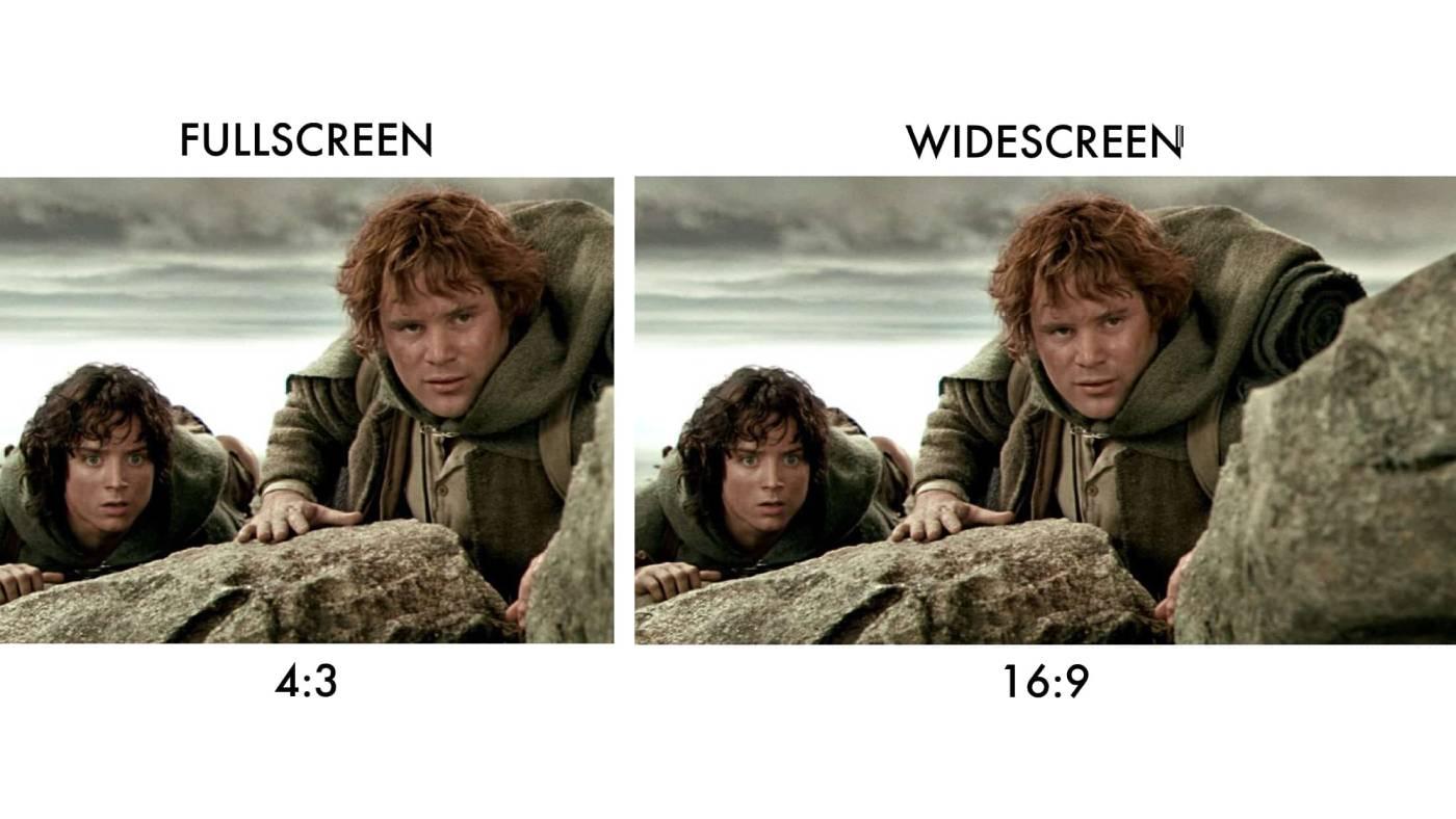 Fullscreen vs widescreen