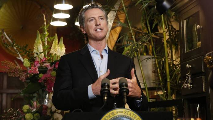 California Governor Gavin Newsom and the California Department of Public Health open film and TV production