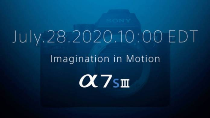 Sony a7S III announcement is coming tomorrow
