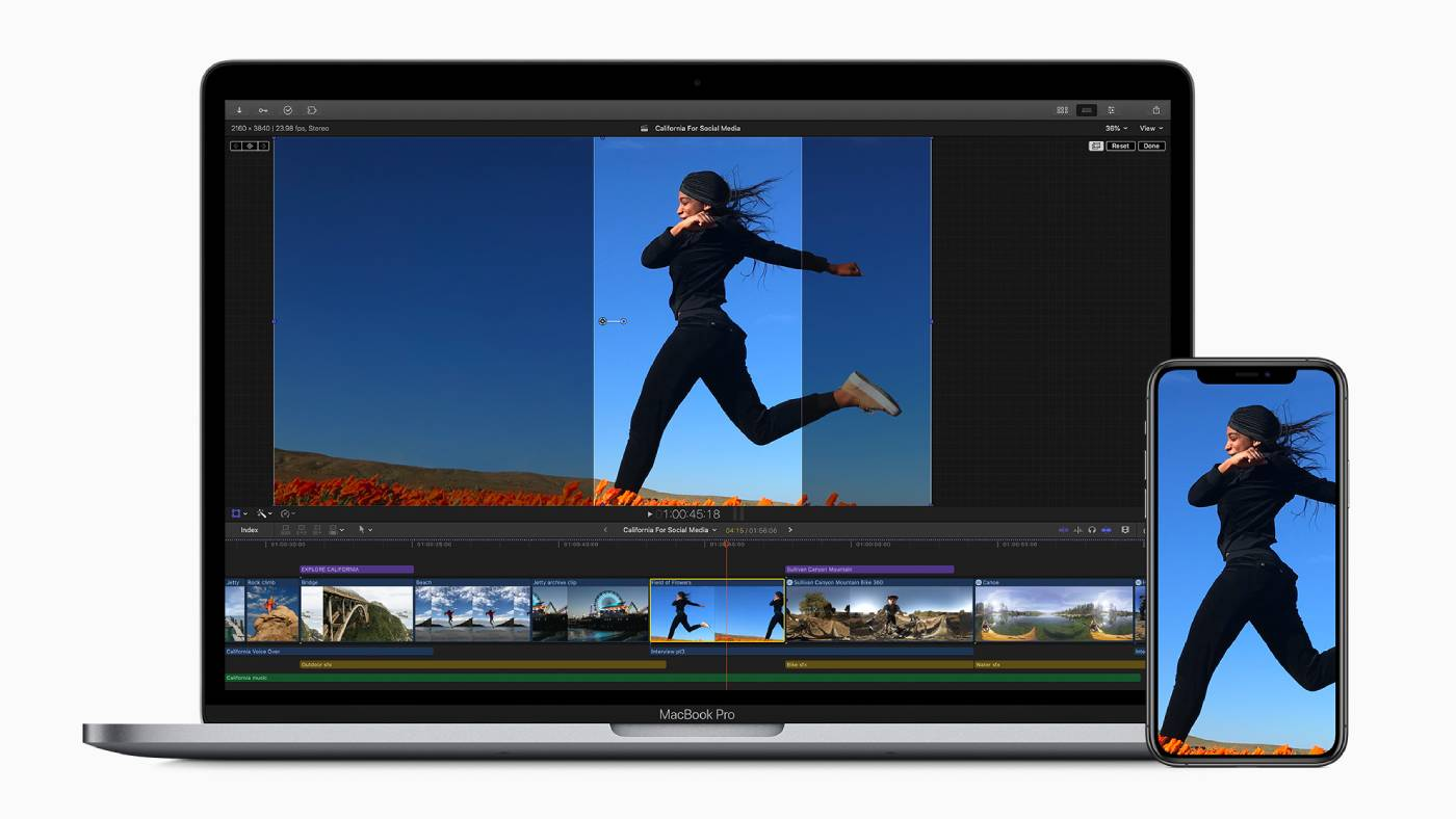 Final Cut Pro X now uses AI to crop video clips for social media posting