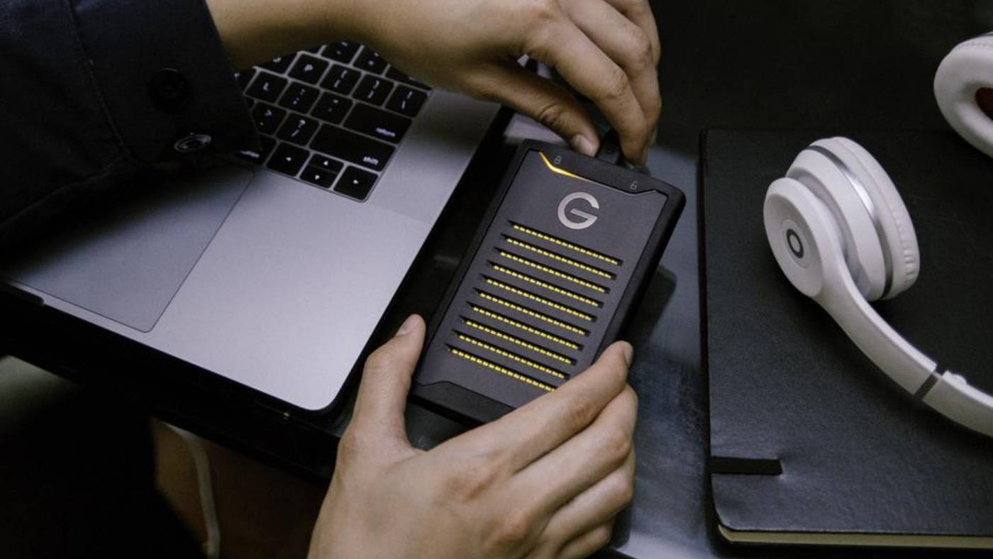 The G-Technology ArmorLock works with iOS and Macs