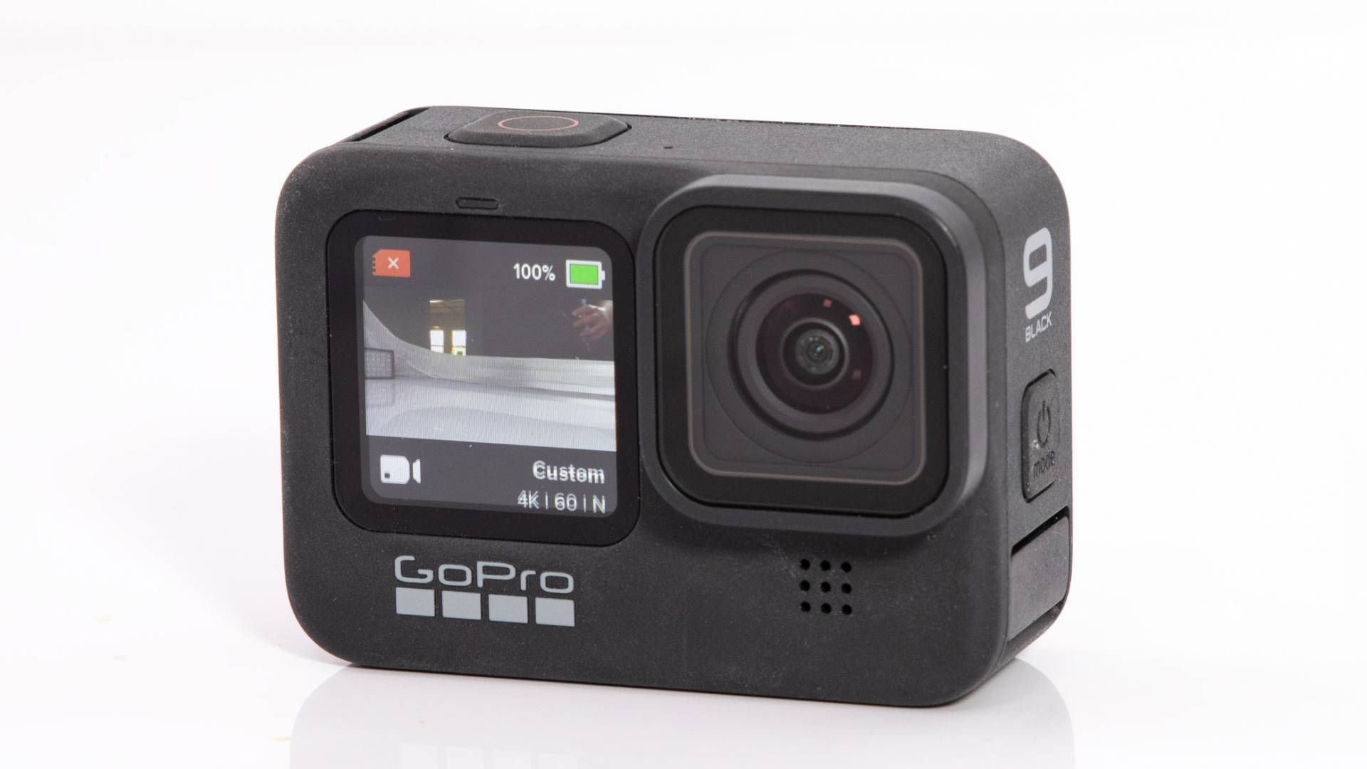 Front-facing monitor on the GoPro Hero9