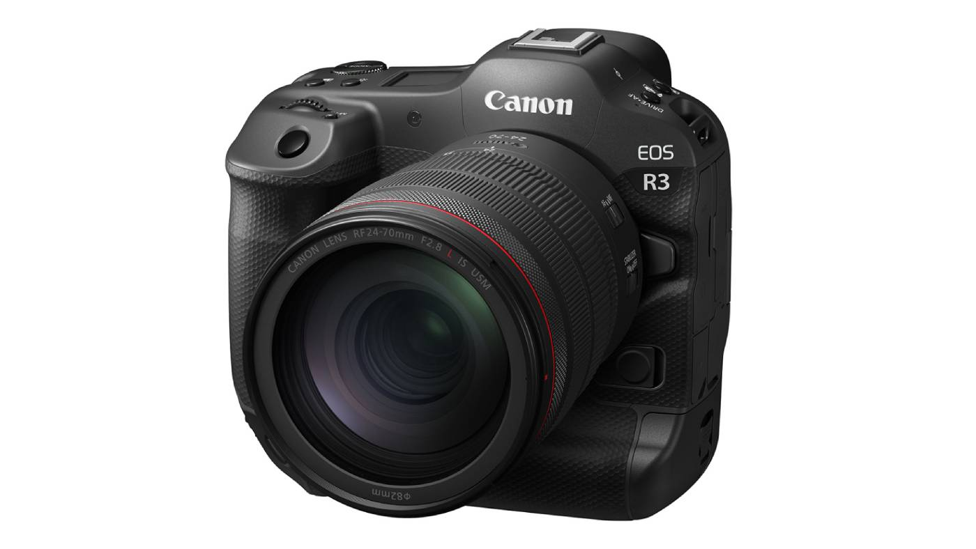 Canon EOS R3 with lens