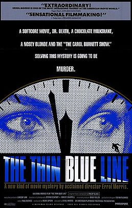 "poster from documentary ""The Thin Blue Line"""