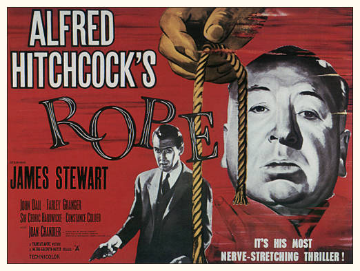 "Poster from Alfred Hitchcock's movie, ""Rope"""