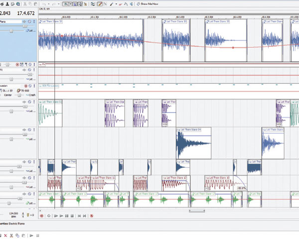Look across your waveforms and follow the lines with dots on them, but  don't mistake volume for pan – both may use keyframes on a clip.