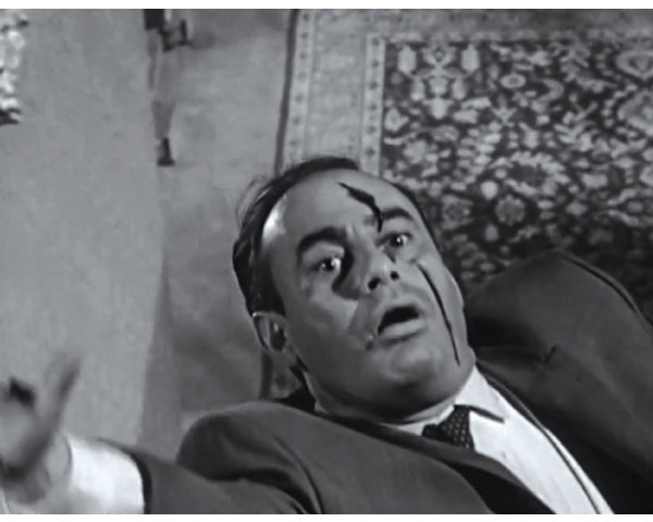 """Figure 4: Scene of actor falling down stairs in the original movie """"Psycho"""" movie."""