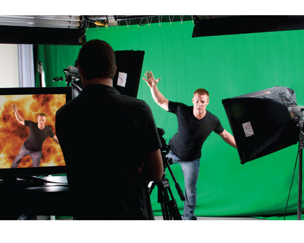 Having some sample footage on a monitor of the effect your actor is supposed to be reacting to can help you direct the actor better. Should he look left? Should shadows be on his right? A visual guide helps tremendously.