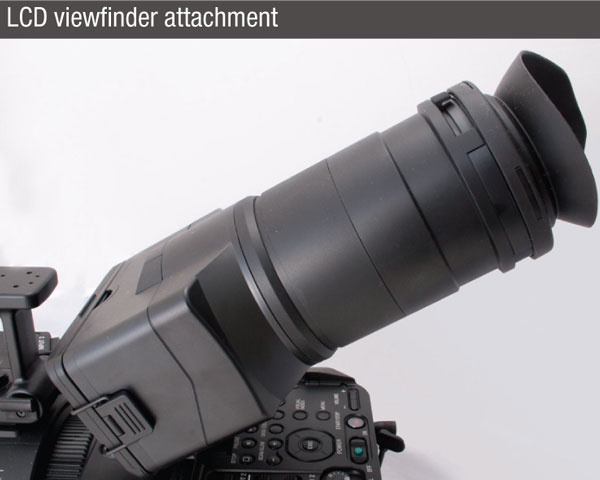 Sony-FS700-camcorder-viewfinder-with-attachment