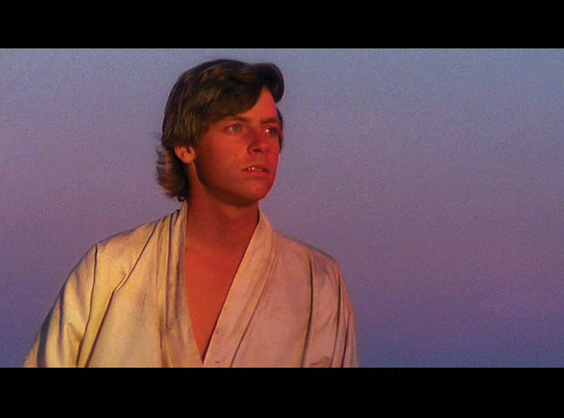 """Single frame from the movie """"Star Wars"""""""