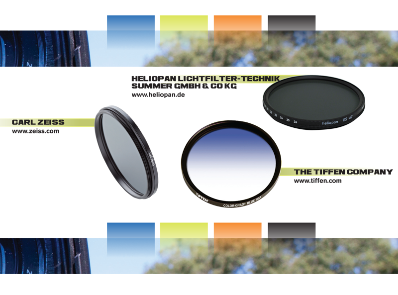 A collection of camera lens filters