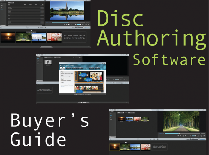 Collage of different disc authoring interfaces