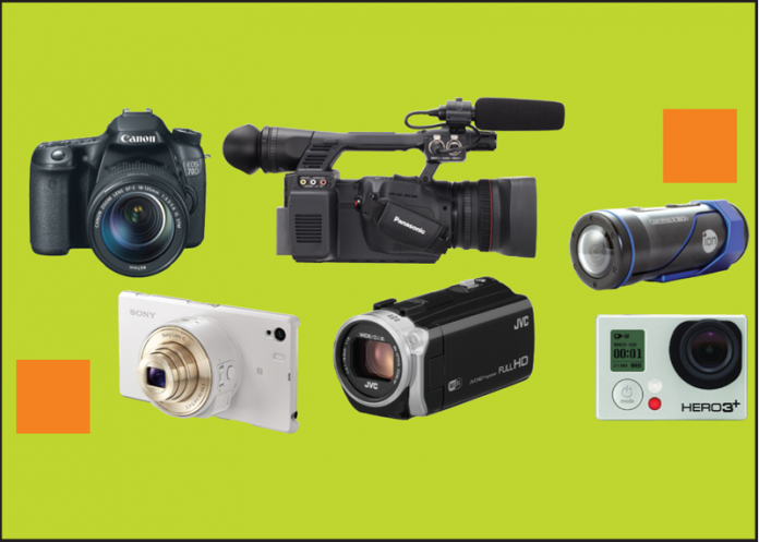 Collection of camcorders