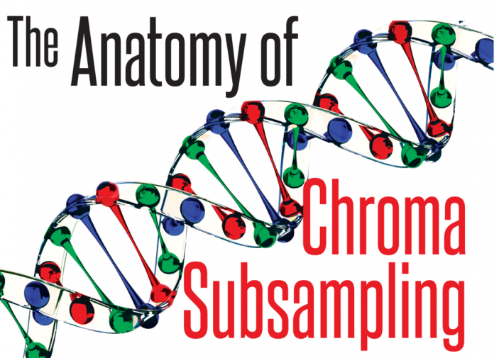 DNA Strip showing video's primary colors of Red, Green and Blue at keypoints.