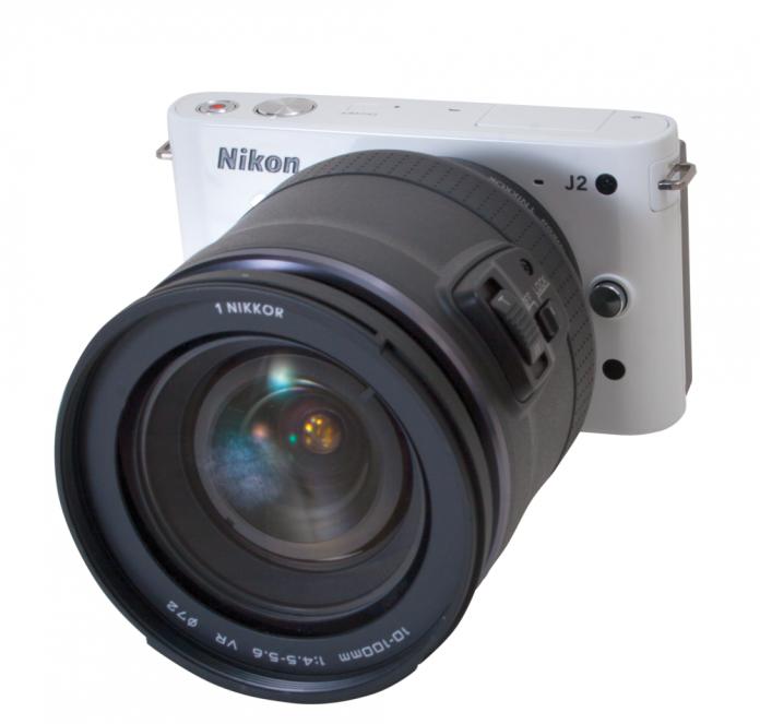 Nikon 1 J2 with optional 10-100mm f4.0-5.6 lens