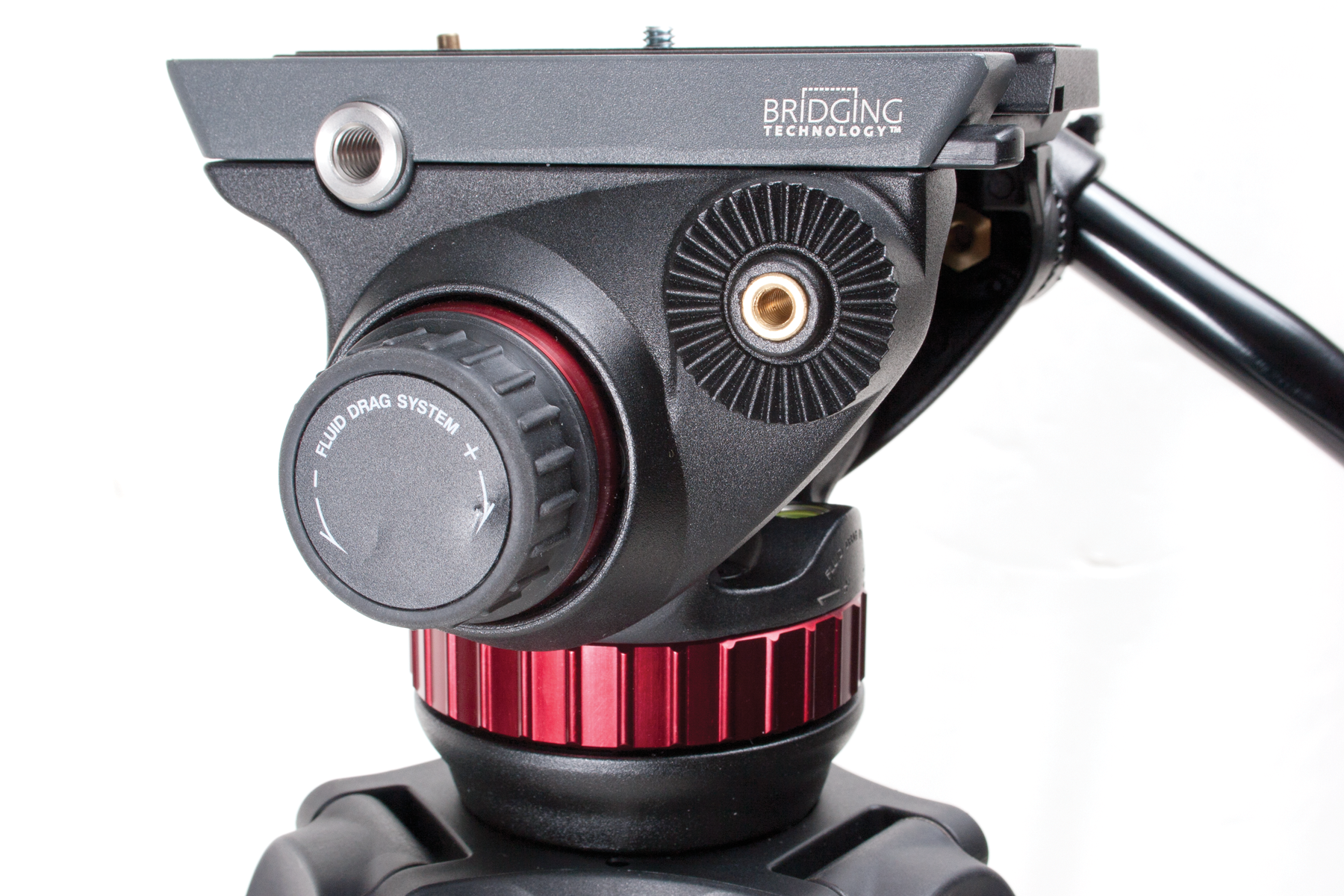 Photo of the fluid drag system on the Manfrotto 502 tripod