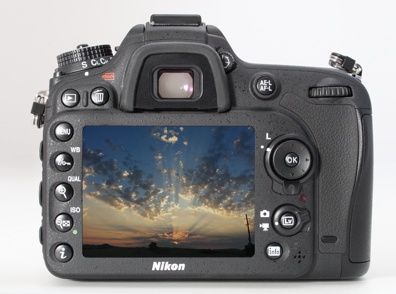 Back view of the Nikon D7100
