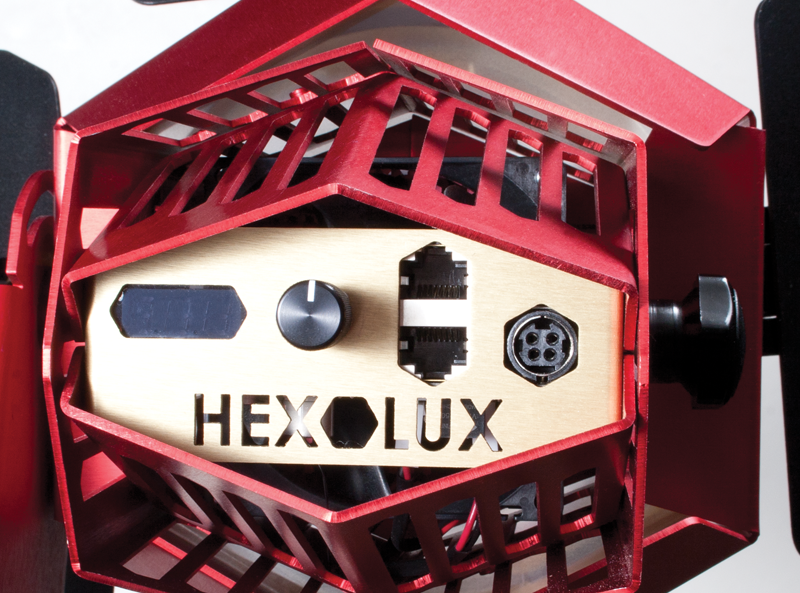 Back of Hexolux showing dimmer switch