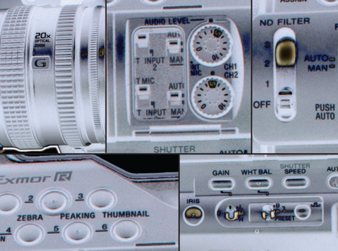 Montage of different camera controls