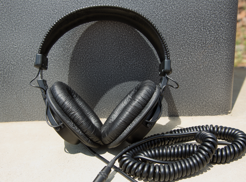 A pair of over-the-ear headphones