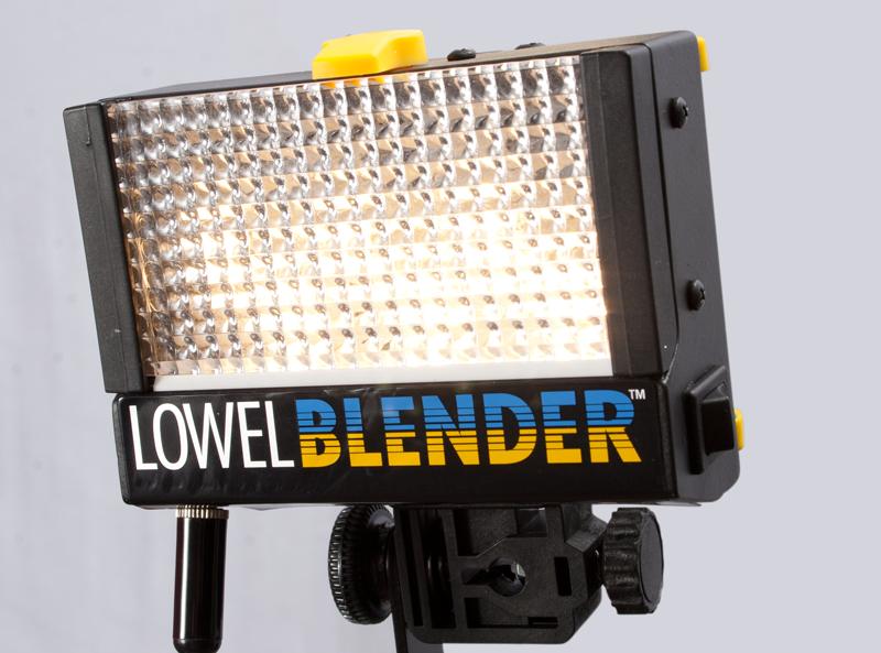 Closeup of one Lowel Blender LED light