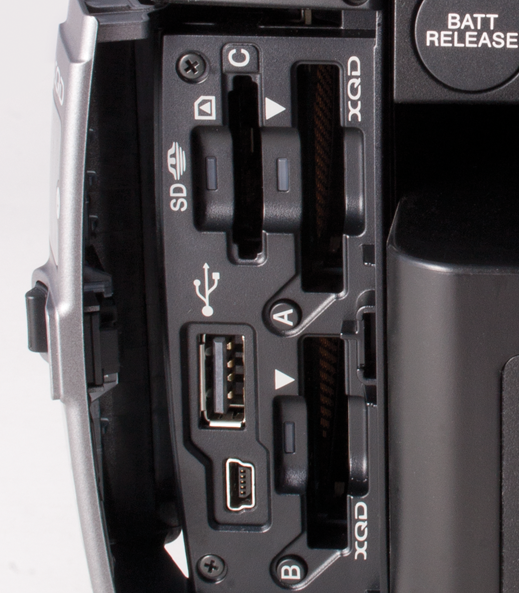 Media card slots and USB interface