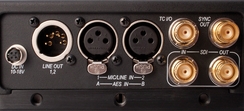 Audio and Video in ports.
