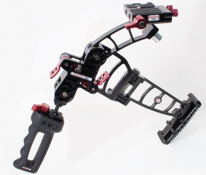 Photo of the Zacuto Marauder unfolded and ready for action.