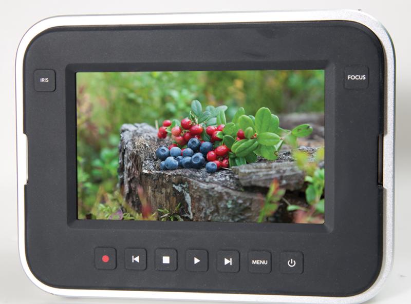 The Blackmagic Production Camera 4K's touch-sensitive screen