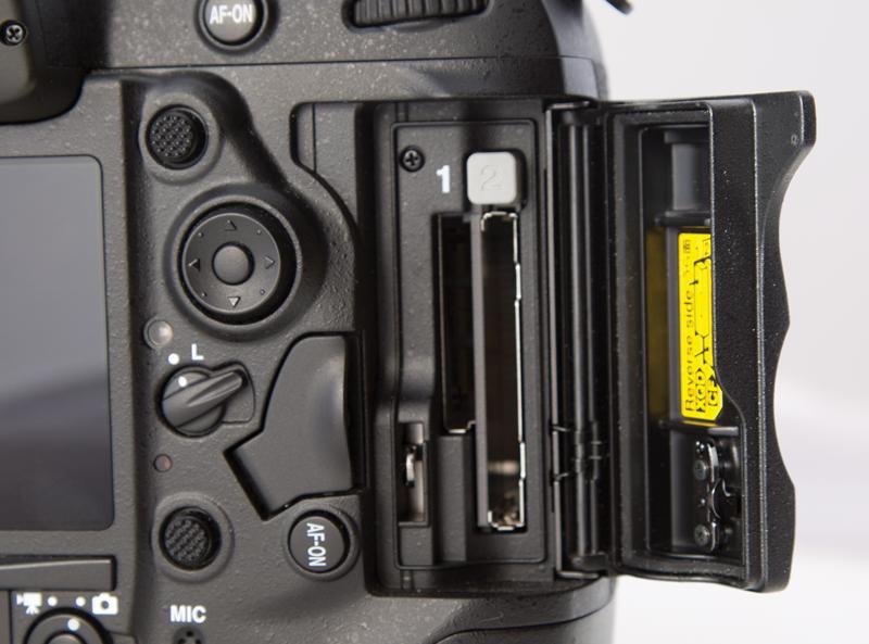 Left side ports on the Nikon D4S DSLR