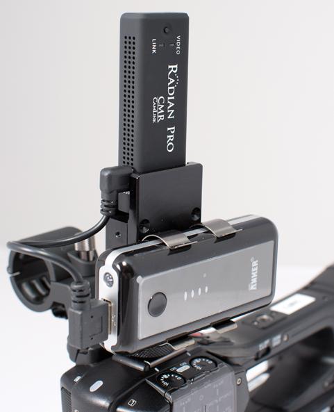 Photo of camera mounted transmitter