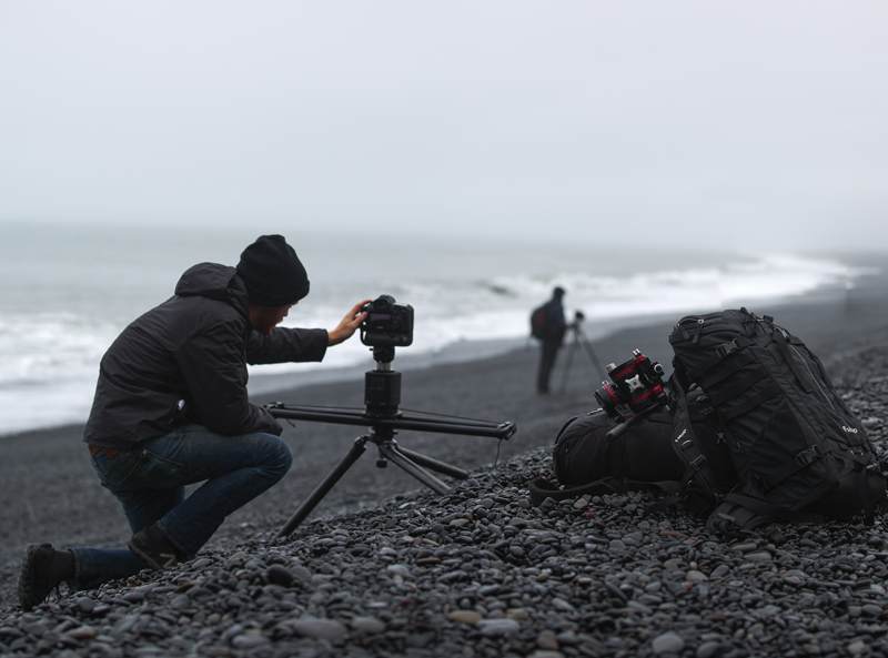 Ocean waves behind a stationary subject are a great time-lapse opportunity.