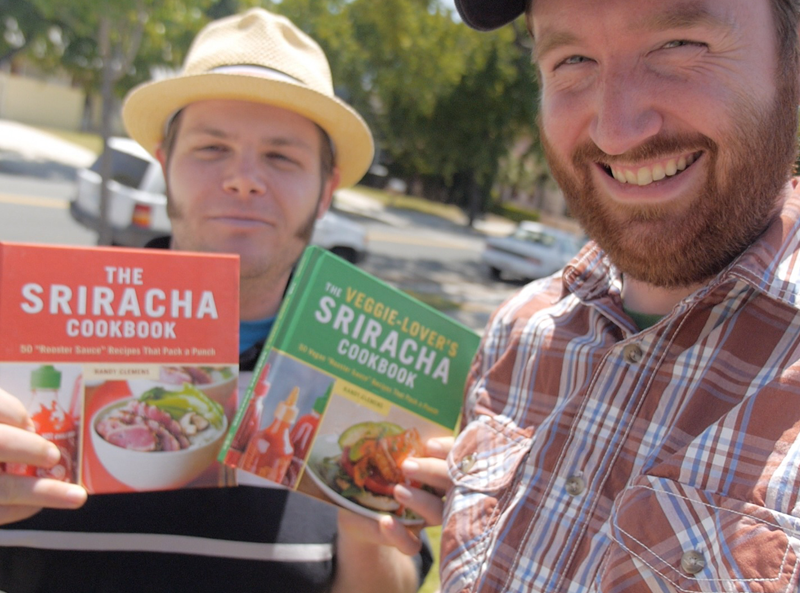 Griffin Hammond with Sriracha Cookbook author Randy Clemens