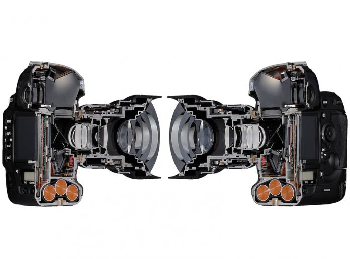 Cross section of a Nikon camera