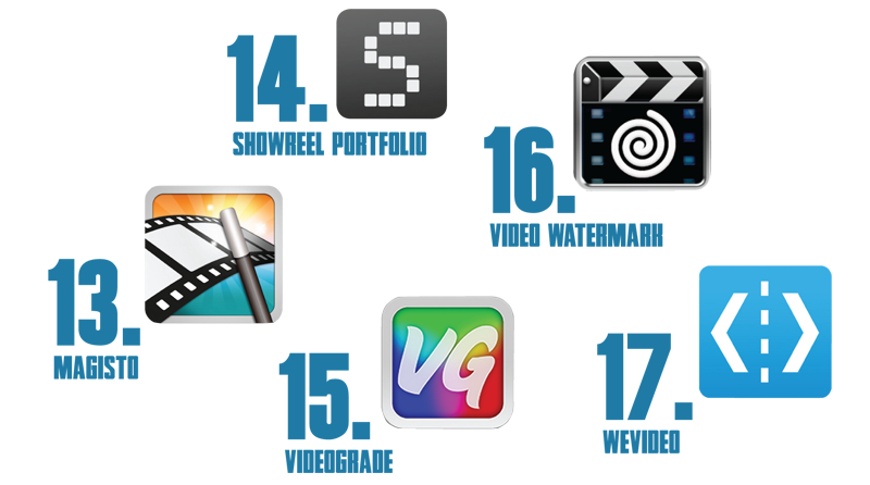 magisto, showreek portfolio, videograde, video watermakr, we video