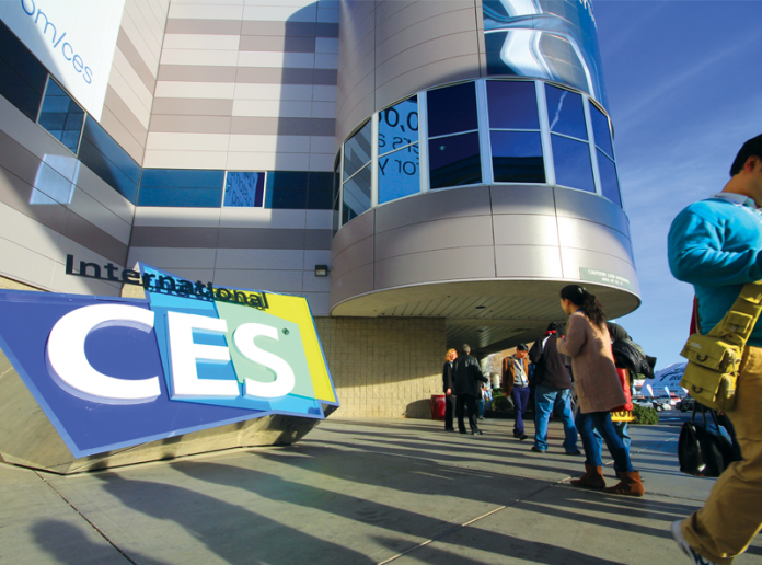 Shot of the International CES Sign at the Las Vegas tradeshow.