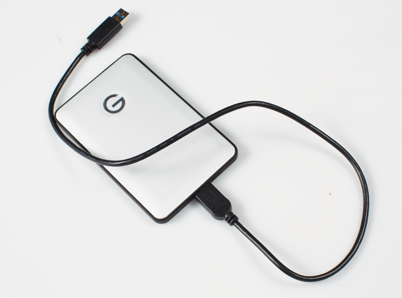 Photo of an external storage device