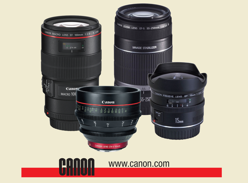 Assortment of Canon Lenses
