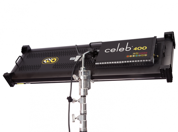 Photo of the Kino Flo Celeb 400 showing the back with controls.