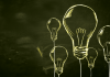 Image of hand drawn light bulbs on a chalkboard