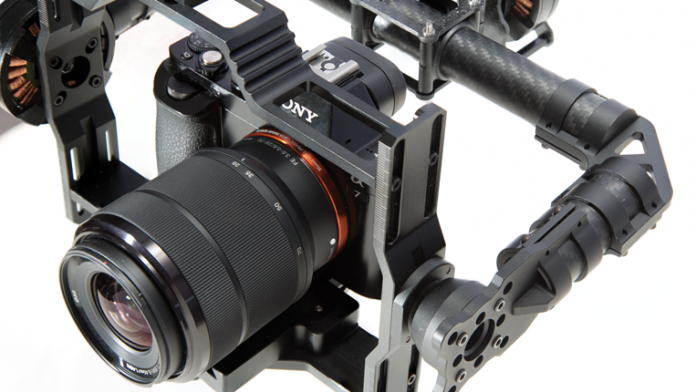 CAME-TV 7800 Gimbal showing camera mount