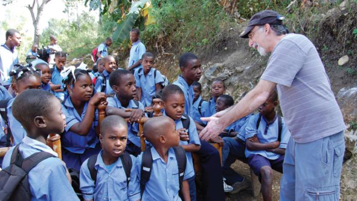 NGO meeting children