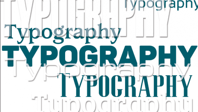 """The word """"typography"""" depicted in multiple fonts."""