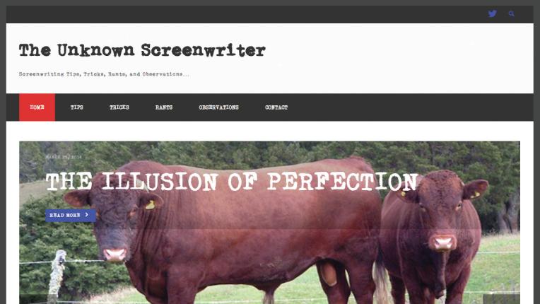 Unknown Screenwriter website
