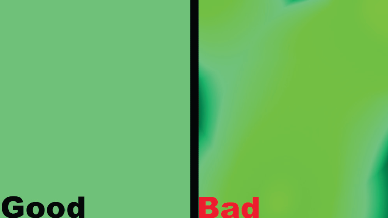 Good and Bad green screen examples