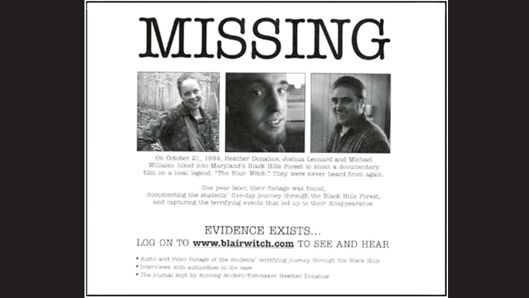 Missing poster from Blair Witch Project