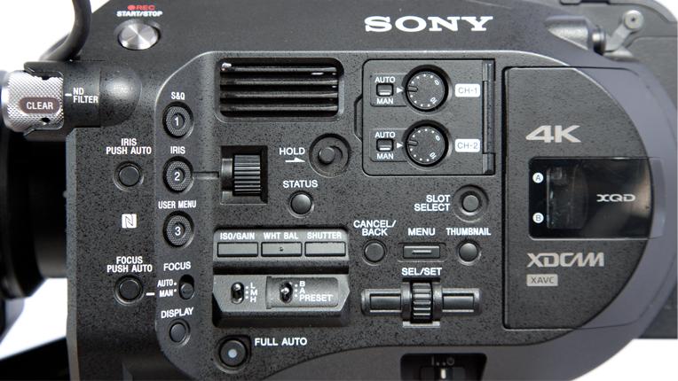 Sony FS7, Left side