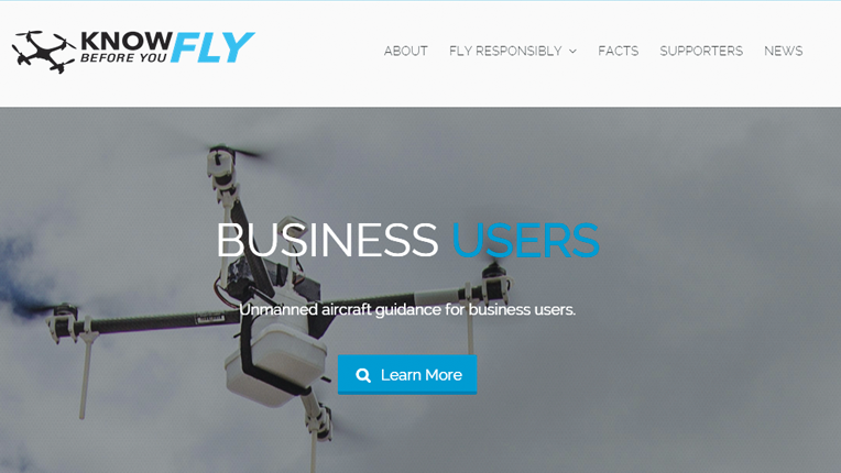 Know Before You Fly website