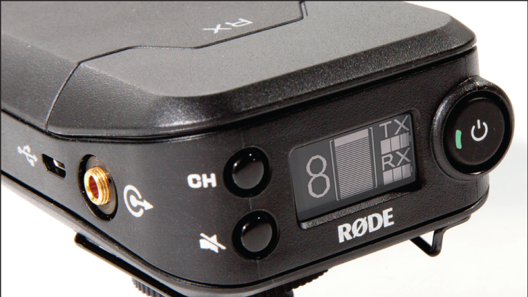 Rødelink Filmmaker LCD displaying system battery life