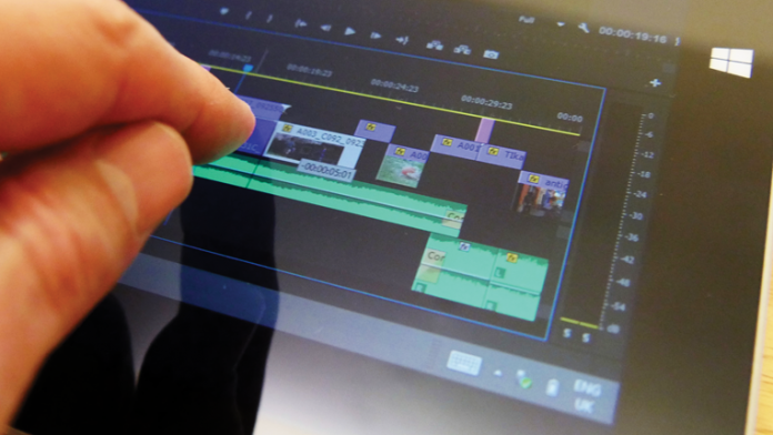 Adobe' Premiere on SurfacePro Tablet